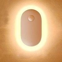 Nachtlichter Abnehmbar für das Haus Tragbare Nachts-Bewegungssensor Magnetische Saugschlafzimmer USB Wiederaufladbare Licht Mini-WC-LED-Lampe