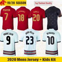 Euro 2021 Portugal Fußballtrikots JOÃO FÉLIX 20 21 RONALDO NEVES BERNARDO Portugal CANCELO BRUNO FERNANDES Fußballtrikot Herren Trikots Kids Kit Uniform