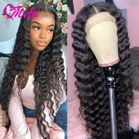 Lace Wigs Remy Peruvian 13x4 Deep Wave Front Human Hair Wig 30 32Long Inch Curly 4x4 Swiss Closure For Women