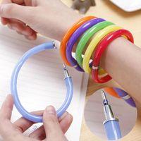 Креативная гибкая шариковая ручка милый мягкий пластиковый браслет школьные офисные подарочные поставки ручки