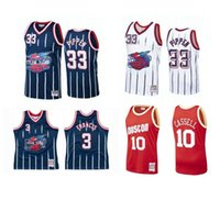 Custom S-6XL Hommes Femmes Jeunes Jeunes Jeux de basketball 3 Francis 33 Pippen 10 Cassell Jersey Red Black Mitchell Ness Hardwoods Classics Retro Wear