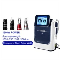 Portable Picosecond 532nm 755nm 1064nm 1320nm Q Switch nd yag Laser Tattoo Removal Machine Carbon peeling Black Face Doll Removal picolaser devices