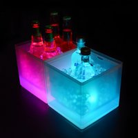 LED Ice Buckets 3.5L Wine Cooler Colors Changing Champagne Wine Bucket for Party Home Bar Nightclub Light Up Whiskey Ice Bucket