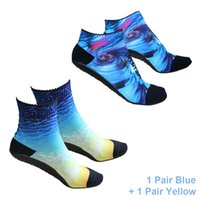 RANDY SUN Volleyball Beach Socks , 2 Pairs Seamless Quick-Dry Suitable Aqua Water Sports Yoga, Sand Exercise, Jogging,Beach