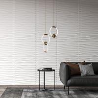 Art3D Kunststoff 3D Wallpaper PVC Wave Wandgestaltung weiß 12 Fliesen 32 SF