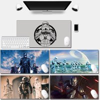 Mouse Pads & Wrist Rests Computer Mousepad Play Mat With Locking Edge High Quality Durable Dark Side Darth Vader