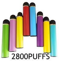 2800puffs F Disposable Vape Pens Device 6.5ml Cartridges Pods Starter Kit Vapes Pen prefilled Vaporizer 13 colors Empty OEM