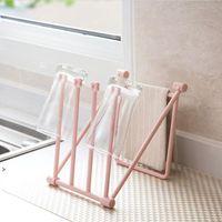 Folding pia lavagem toalha de toalha de cozinha toalha de copo titular titular dobrável estufa de almofada de limpeza de secagem rápida rack de armazenamento owe8486