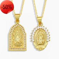 قلادة كما المجوهرات العذراء ماري قلادة قلادة الماس سترة سلسلة الرجال والنساء الملحقات NKT99
