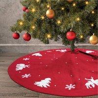 122cm Vermelho Chirstmas Sala de árvore para decoração Floco de neve ANS Elk Árvores de Natal Vestido de fundo Ornamento Festas de festa de férias