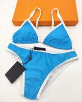 Trendy Designer Bikini Für Frauen Zweiteilige Badeanzug mit Buchstaben Sommer Sexy Swimwear Lady Bathing Anzüge Multi Stile S-XL