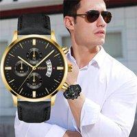 Saatı WJ-8725 2021 Erkekler Spor Saatler erkek Kuvars Saati Adam Ordusu Askeri Deri Saatler Relogio Masculino Watch