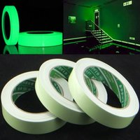 Party Decoration Luminous Tape Self Adhesive PET Warning Night Vision Glow In Dark Wall Sticker Fluorescent Emergency Supplies