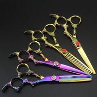 6 pollici taglio di capelli Forbici di assottigliamento Shears Professionale Drago di alta qualità Maniglia per parrucchieri Strumenti per parrucchieri Salon Kit taglio di capelli