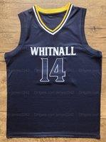 Schiff aus den US-Herren Tyler 14 Herro Whitnall High School Basketball-Jersey Alle genähten Navy-Größe S-2XL Top-Qualität