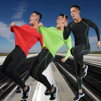 Men's Tracksuits Mens Compression Sports Tights Workout Clothes Jogging Rashguard Tracksuit For Kits