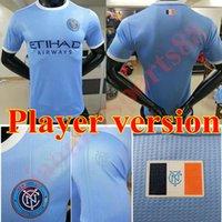 20 21 Spielerversion Moralz Newyork City Fussball Jersey 2021 2022 Pirlo Castellanos Sands Tinnnerholm Home Football Hemden David Villa Uniform