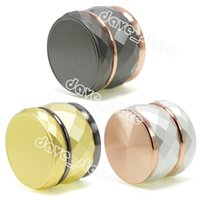 60MM Zinc Alloy Smoke Grinder Household Smoking Accessories Creative Drum Shaped Color Matching 4 Layer Tobacco Grinders