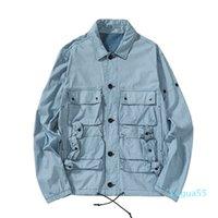Topstoney Konng 성보 터키 원래 블루 염료 기술 패브릭 바느질 피아노 포켓 틴 스타일 망 재킷