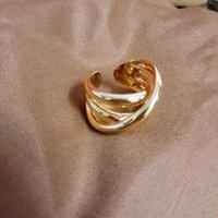 Cluster Ringen 2021 Retro Gold Metal Cross Multi-Layer Hyperbole Exquisite Daily Finger for Women Girls Party Sieraden Geschenken