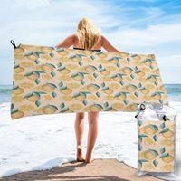 Towel Bathing Lemons Print Bath Wearable Dress Fast Drying Beach Spa Magical Nightwear Sleeping