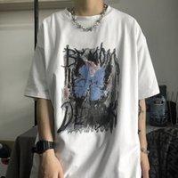 Короткая мужская футболка хип-хоп половина рукава Suzuki одежда модная свободная пара вершина