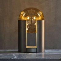 현대 유리 공 드레싱 LED 테이블 램프 침실 침대 옆에서 거실 바 호텔 도서 스토어 연구 독서 조명 Nordic 홈 데코