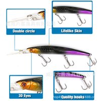 Best Abs Plastic Pencil Wobble Saltwater Crankbait Fishing Lures 14.5cm 13g Minnow Laser Bass Baitfsh Arti pZH hairclippers 456 X2