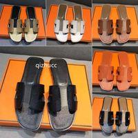 H Womens Sommer Sandalen Strand Rutsche Hausschuhe Krokodil Haut Leder Flip Flops Sexy Heels Damen Sandali Mode Designs Orange Raubtiere Schuhe