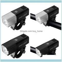 Aessories de vélo Sports Sortie Sortie Sortie Vélo Vélo Lumière USB Rechargeable Phare rechargeable T6 LED Lumières avant phares Pièces de vélo Drop Deli