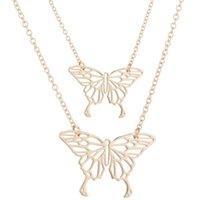 Полая бабочка кулон для ожерелья золотые цепи из нержавеющей стали ожерелья женские мода подарок ювелирных изделий 826 q2