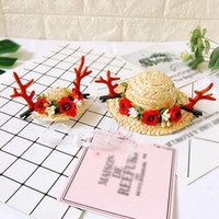 Cat Costumes Pet Dog Straw Hat Sombrero Adjustable Buckle Fashion Durable Outdoor Travel Cap For Small Medium