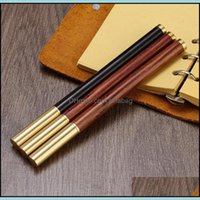 Plumas de escritura Suministros de oficina Escuela de oficina IndustrialPromotión de madera BallPoint Business Wood Rollerball Pen, Pen de bola de metal de latón puede personalizar