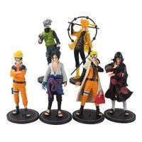 6 adet / takım 19 cm Naruto Shippuden Anime Kakashi Sasuke Uchiha Itachi Ootutuki Hagoromo PVC Action Figure Model Oyuncaklar Çocuklar Hediye