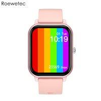 KT50 스마트 시계 큰 1.7 인치 스크린 디스플레이 BT 호출 IP67 방수 ECG 심박수 혈압 산소 스포츠 Smartwatch 듀얼 UI 다이얼 핑크 색상