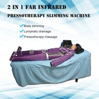 2 in 1 far infrared air pressotherapy slimming with lymph drainage machine