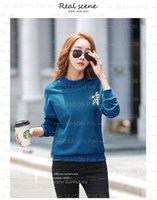 Round neck Women's Hoodies plus velvet thick sweater jacket and winter autumn 2021 new fashion ins design sense niche