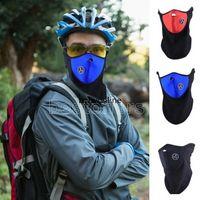En ucuz Bisiklet Bisiklet Motosiklet Yarım Yüz Maskesi Kış Sıcak Açık Spor Kayak Maskesi Binmek Bisiklet Kap CS Maske Neopren Snowboard Boyun Peçe
