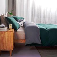 Bedding Sets Pure Duvet Cover Bed Linens Set Quilt Comforter Case Pillow Covers Single Double Full Blackish Blue Home Textiles