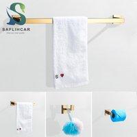 منشفة رفوف saflihcar غولدن الحمام الأجهزة أربعة قطعة مجموعة المعاصرة الأزياء رف ورقة الملحقات