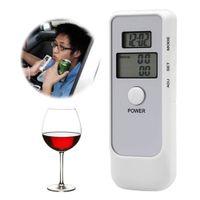 Auto Driving Sicurezza Dual LCD Digital Exhalation Tester Alcohol AD06 con analizzatore di analizzatore di retroilluminazione dell'orologio Driving Parking Detector Widget