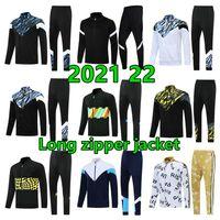 2021 22 Homens Soccer Tracksuit Survectement de Futebol Treinamento Terno Sportswear 2022 Longo Zíper Full Jacket Cheetsuits Set