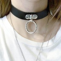 Cochers Rock Sexy Colle Collier Gothique Collier Steampunk Femmes Hommes Cuir Goth Rob Couker Round Boop Chunky