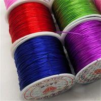 10 / roll 1mm kleur flexibele elastische kristallen lijn touw koord voor sieraden maken Kralen armband draad visdraad touw 1385 Q2