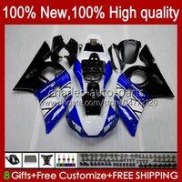 Bodys för Yamaha YZF-600 YZF R6 R 6 600cc YZFR6 1998 1999 00 01 02 Kroppsarbeten 1No.3 YZF 600 CC Cowling YZF-R6 98-02 YZF600 98 99 2000 2001 2002 ABS Fairing Kit Blue White Blk