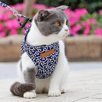 Dog Apparel Pet Cat Harness Vest Collar Outdoor Walking Leash Set Small And For