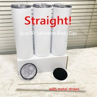 20oz tapered and straight sublimation Mugs tumbler 20 oz stainless steel blank tall cylinder