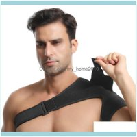 Back Athletic Outdoor As Sports & Outdoors1 Pc Black Bandage Breathable Adjustable Safety For Gym Care Shoulder Support Strap Drop Delivery