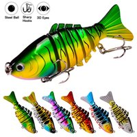 Multi Jointed Floating Fishing Lure Bionic Minnow 95mm 15g Sinking 6-7 Sections Artificial Hard Bait Swimbait Crankbait Wobblers