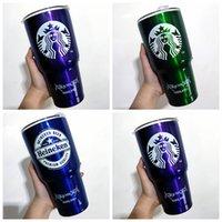 20Oz Starbucks Matt Black Edelstahl Stroh Cup Stanley Feste Farbe Große Kapazität Auto Tragbare Wassertasse Geschenk 222